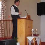 Evangeliesalens faste forkynner Mats Jacobsson er engasjert på deltid f.o.m. januar 2015. Mats er svensk, tidligere ishockeyspiller, fra Umeå. Han ble frelst i Frankrike, snakker flytende fransk og engelsk, og har vært og er engasjert i International Believers Fellowship.